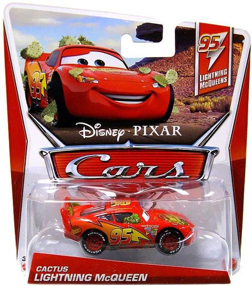 Disney Cars Series 3 Cactus Lightning McQueen Diecast Car