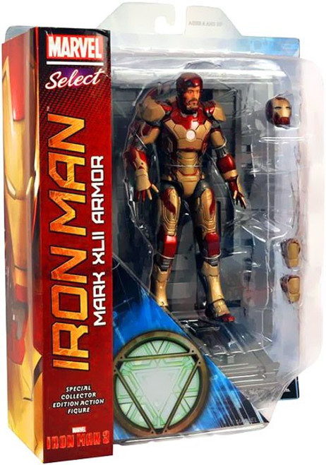 Iron Man 3 Marvel Select Iron Man Mark XLII Armor Action Figure