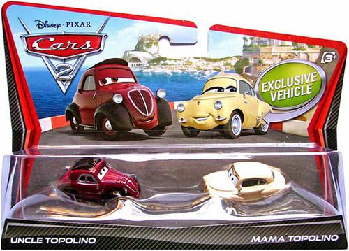 Disney Cars Cars 2 2-Packs Uncle Topolino & Mama Topolino Diecast Car 2-Pack
