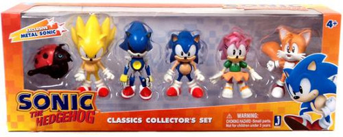 Sonic The Hedgehog Classic Collector's Set Exclusive 2-Inch Mini Figure 6-Pack
