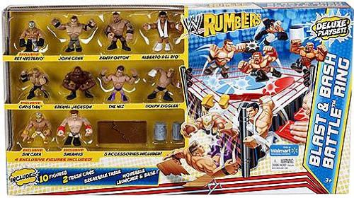WWE Wrestling Rumblers Series 2 Blast & Bash Battle Ring Mini Figure Playset [10 Figures]