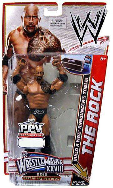WWE Wrestling Best of PPV 2012 Rock Exclusive Action Figure