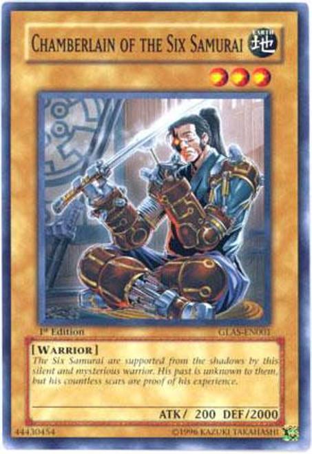 YuGiOh GX Gladiator's Assault Common Chamberlain of the Six Samurai GLAS-EN001