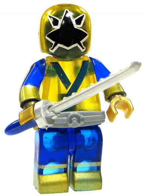Mega Bloks Power Rangers Super Samurai Loose Translucent Samurai Gold Ranger Minifigure [Loose]