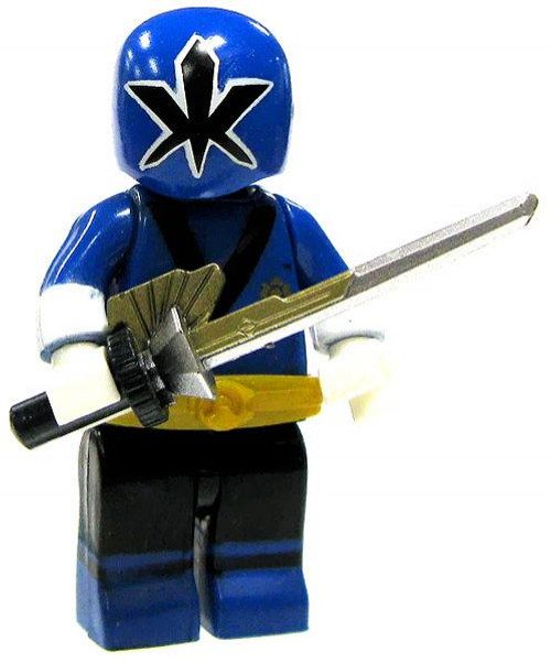 Mega Bloks Power Rangers Super Samurai Loose Metallic Samurai Blue Ranger Minifigure [Loose]