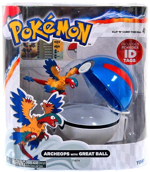 Pokemon Clip n Carry Pokeball Archeops with Great Ball Figure Set