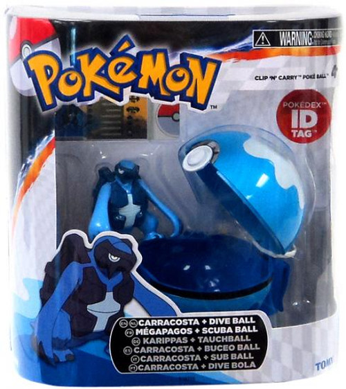 Pokemon Clip n Carry Pokeball Carracosta & Dive Ball Figure Set