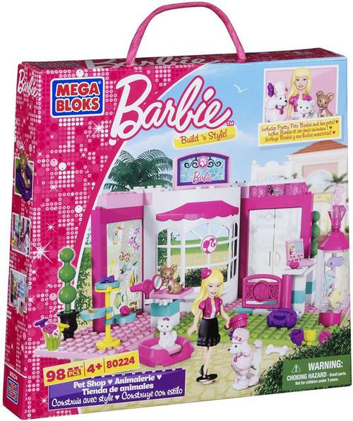 Mega Bloks Barbie Build 'n Style Pet Shop Set #80224