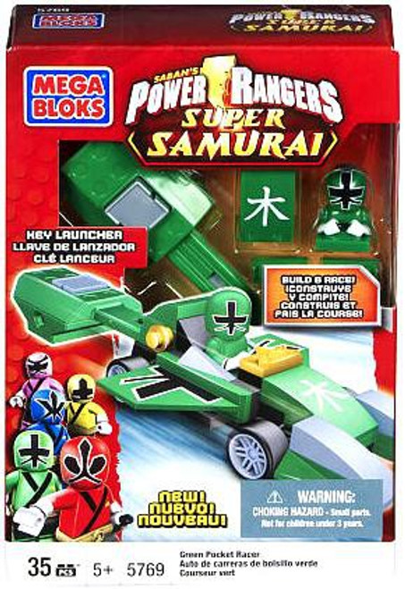 Mega Bloks Power Rangers Super Samurai Green Pocket Racer Set #5769