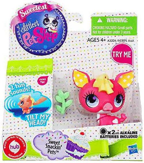 Littlest Pet Shop Sweetest Sweet Snackin Pets Pig Figure