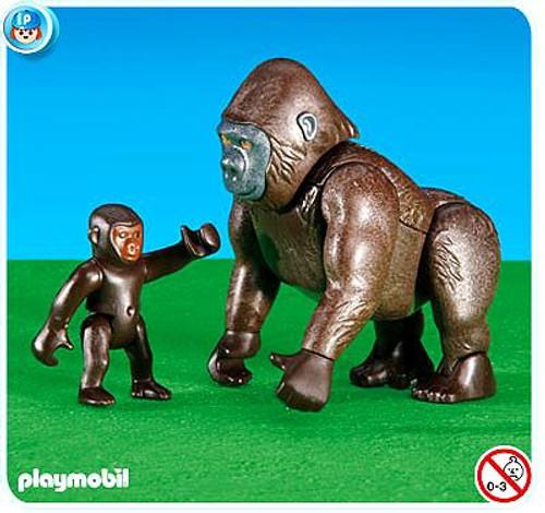 Playmobil Zoo Gorilla with Baby Set #6201
