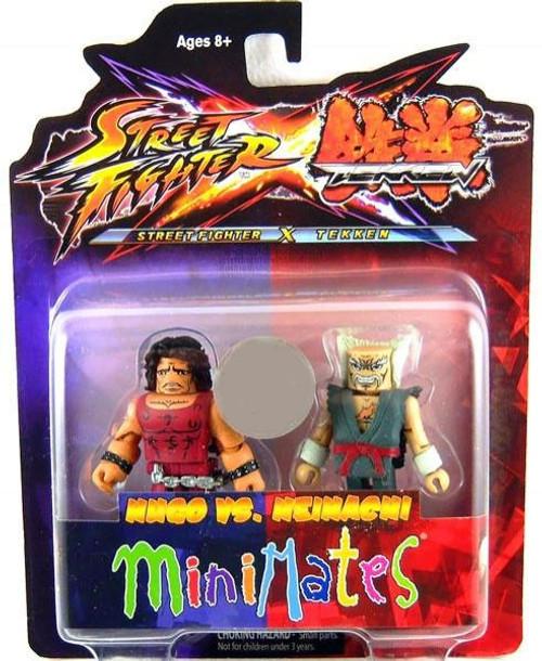 Street Fighter X Tekken Minimates Series 2 Hugo vs Heihachi Minifigure 2-Pack