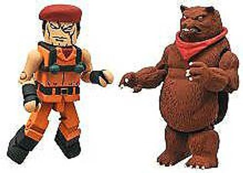 Street Fighter X Tekken Minimates Series 2 Rolento vs Kuma Minifigure 2-Pack