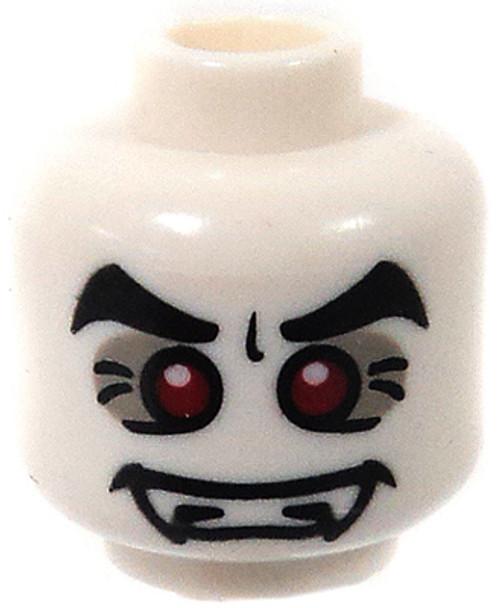 LEGO Minifigure Parts White Vampire with Red Eyes & Fangs Minifigure Head [Loose]