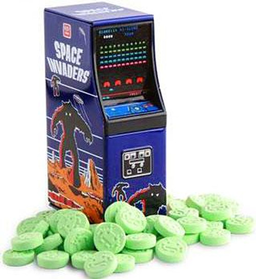 Space Invaders Arcade Cabinet Candy Tin [Sour Apple Alien ]