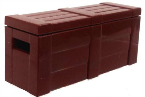 BrickArms Crate with Lid 2.5-Inch [Brown]