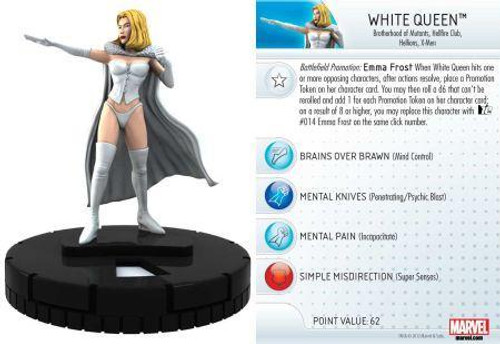 Marvel 10th Anniversary HeroClix White Queen Emma Frost #008