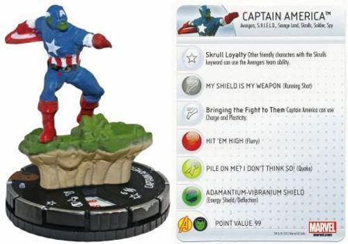 Marvel 10th Anniversary HeroClix Captain America #023