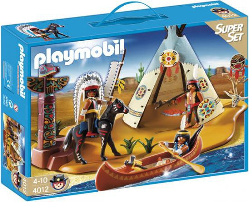 Playmobil Western Super Set Native American Camp Set #4012