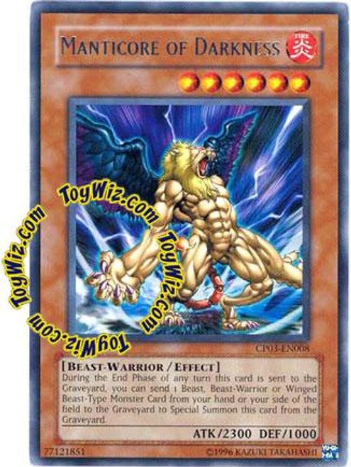 YuGiOh GX Champion Pack: Game 3 Rare Manticore of Darkness CP03-EN008