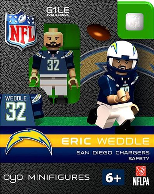 San Diego Chargers NFL Generation 1 2012 Season Eric Weddle Minifigure