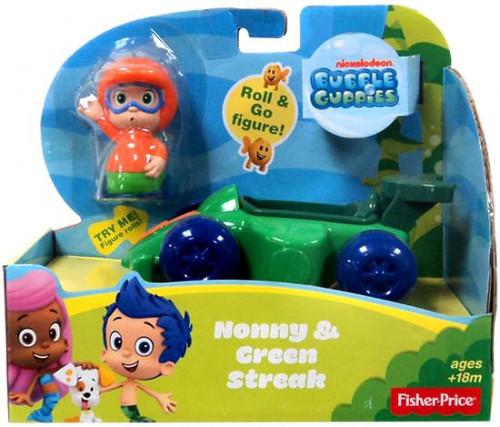Fisher Price Bubble Guppies Nonny & Green Streak Figure Set