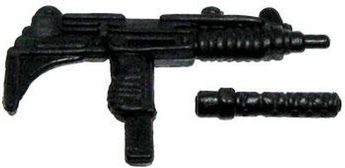 GI Joe Loose Weapons Uzi with Removeable Silencer Action Figure Accessory [Black Loose]