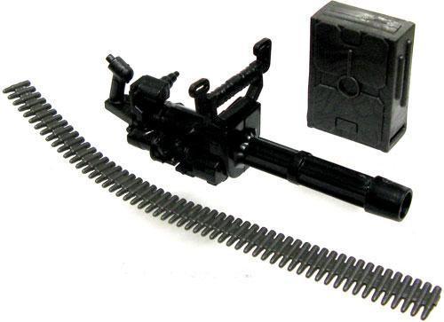 GI Joe Black Minigun with Ammo Belt & Backpack 3.75-Inch Accessory [Loose]