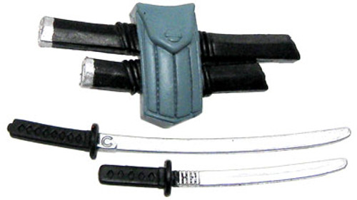 GI Joe Loose Weapons Sword Backpack Action Figure Accessory [Black & Blue Loose]