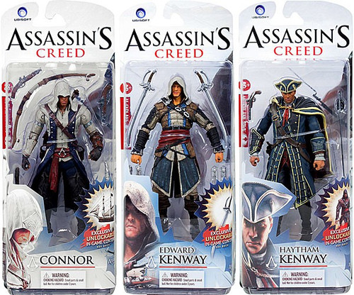 McFarlane Toys Assassin's Creed Series 1 Connor, Edward Kenway & Haytham Kenway Set of 3 Action Figures