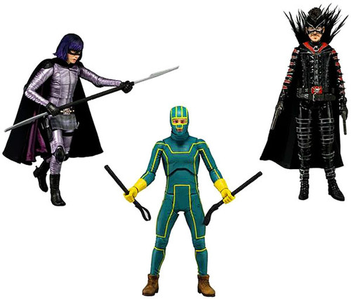 NECA Kick-Ass Kick Ass 2 Series 1 Set of 3 Action Figures