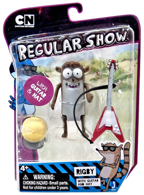 Cartoon Network Regular Show Rigby Action Figure [with Guitar & Hat]