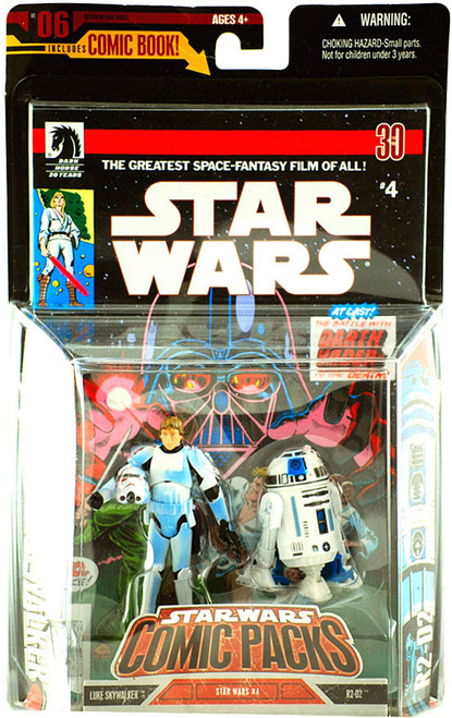 Star Wars A New Hope Comic Packs 2006 Luke Skywalker in Stormtrooper Disguise & R2-D2 Action Figure 2-Pack