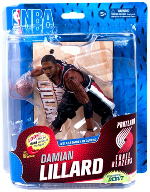 McFarlane Toys NBA Portland Trailblazers Sports Picks Series 23 Damian Lillard Action Figure [Black Jersey]