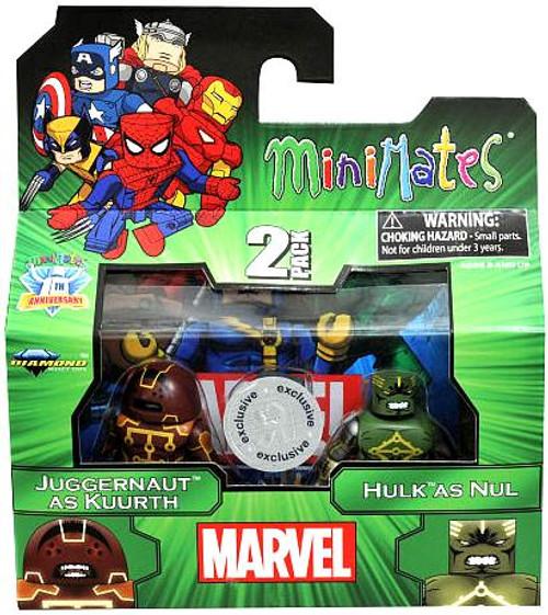 Marvel Minimates Juggernaut as Kuurth & Hulk as Nul Exclusive Minifigure 2-Pack
