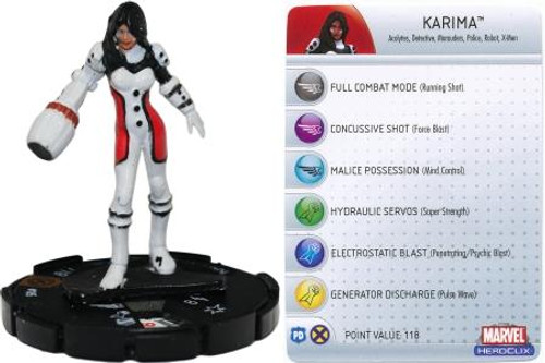 Marvel HeroClix Giant Size X-Men LE Karima #105