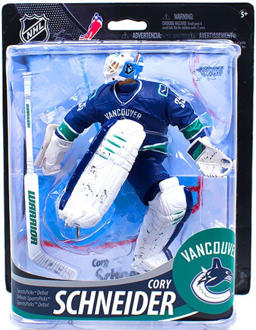 McFarlane Toys NHL Vancouver Canucks Sports Picks Series 33 Cory Schneider Action Figure [Logo Written On Jersey]