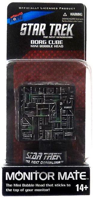 Star Trek The Next Generation Monitor Mate Borg Cube Mini Bobble Head