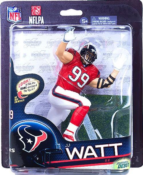 McFarlane Toys NFL Houston Texans Sports Picks Series 33 JJ Watt Action Figure [Red Jersey]