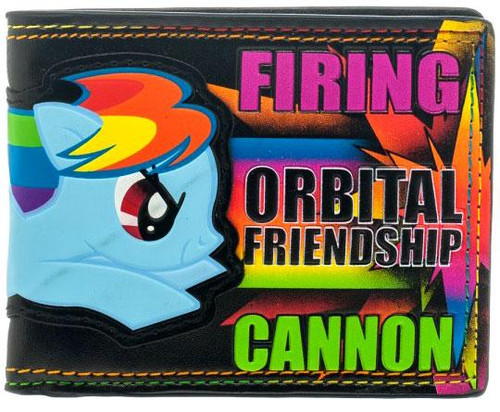My Little Pony Novelties Rainbow Dash Firing Orbital Friendship Cannon Bifold Wallet