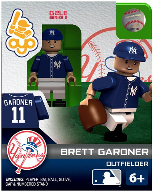 New York Yankees MLB Generation 2 Series 2 Brett Gardner Minifigure