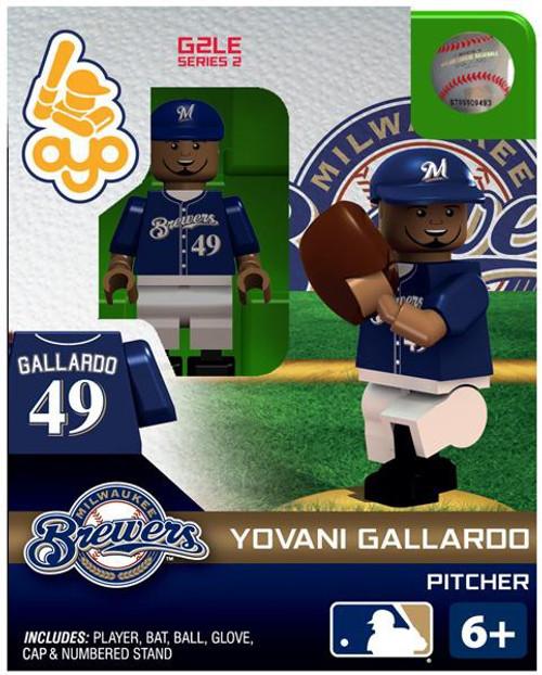 Milwaukee Brewers MLB Generation 2 Series 2 Yovani Gallardo Minifigure