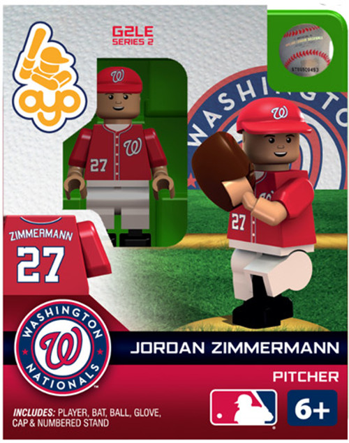 Washington Nationals MLB Generation 2 Series 2 Jordan Zimmermann Minifigure