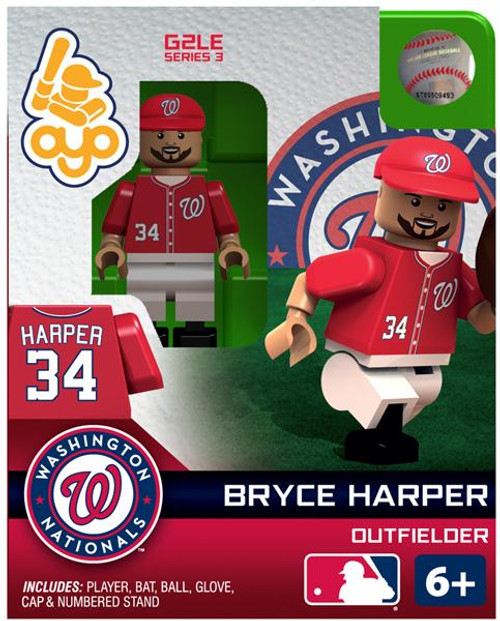 Washington Nationals MLB Generation 2 Series 3 Bryce Harper Minifigure