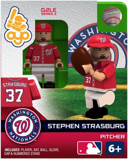 Washington Nationals MLB Generation 2 Series 3 Stephen Strasburg Minifigure