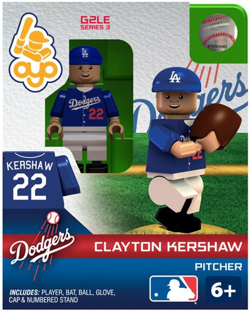 Los Angeles Dodgers MLB Generation 2 Series 3 Clayton Kershaw Minifigure