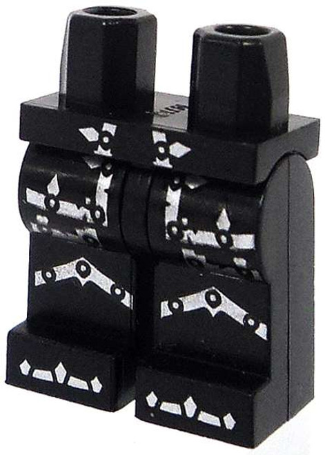 LEGO Minifigure Parts Black Hips and Legs with Silver Armor Markings Loose Legs [Loose]