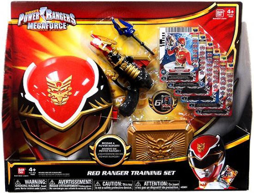Power Rangers Megaforce Red Ranger Training Set Roleplay Toy