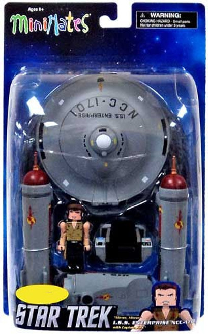 Star Trek The Original Series MiniMates U.S.S. Enterprise & Captain Kirk Exclusive Minifigure Set [Mirror Mirror]