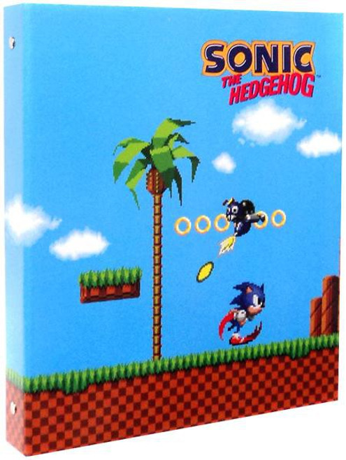 Sonic The Hedgehog Classic Sonic Green Hill Zone 3-Ring Binder
